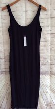 Joy Li Tank Top Dress Long Black Soft Rayon/Spandex Jersey Medium NWT