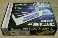 "⭐ Alpha Cool USB pantalla LCD 200x64 negro/Black azul/Blue 1x 5.25"" PC carcasa"
