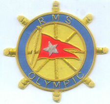 UK White Star Line RMS Olympic Ocean Liner Cruise Passenger Ship  Crest Patch