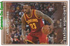 004 LEBRON JAMES SEASON HIGHLIGHTS STICKER NBA BASKETBALL 2017 PANINI