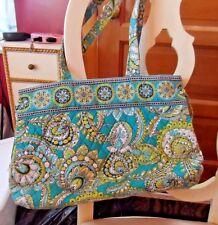 Vera Bradley handbag with ties on side in retired Peacock