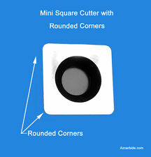 "Mini Square Carbide Cutter, Rounded Corners 7/16"",10.5mm great for Pen Turning"