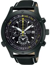 PF8427X1 Pulsar Hommes Affichage Date Aviation Chronographe Sangle En Cuir