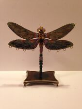 Beautiful Brass Enamel Dragonfly/Earring Holder Stand Jewelry