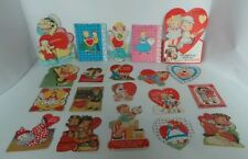Lot of 20 Vintage Valentine's Day Cards 1930's to 40's Some Diecuts, Children