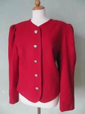 Perry Landhaus Jacke Trachtenjacke Janker Herzknöpfe rot Größe 42 XL (S26)