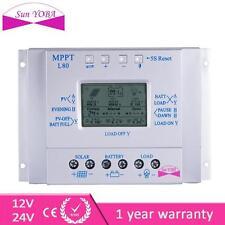 80A MPPT Pannello Solare Regolatore Di Carica 12V/24V 1000W/2000W & LCD USB G2