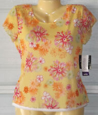 NWT Crazy Horse Petite Women Casual Lined Shirt Pullover Top Sz MP #1898