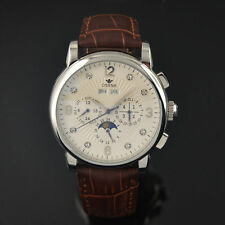 42mm White Dial Moon Phase Automatic Silver Shining markers Ossna Men Watch 14