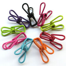 Pack of 30 Multi-purpose Clothesline Utility Clips Steel Wire Clips Paper Clips
