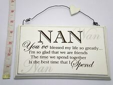 Blessed Nan Wall Plaque Sign Gift Ideas for her, Nanna, Grandparents F0847A