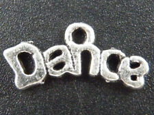 "70pcs Tibetan Silver ""Dance"" Letter Charms 20x9.5mm 11050"