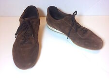 BALLY Men's Brown Fine Suede Leather Alceda Sneakers Trainers 9 D US