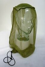 GENUINE BRITISH ARMY MOD MOSQUITO HEADNET INSECT PROTECTION HAT NET OLIVE GREEN