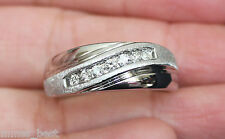New Kay Jewelers 14K Size 10 1/4ct Diamond Mens Wedding Band 7g Ring White Gold