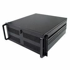 4U Rack Mount 500MM Deep Black Rackmount Server Case without PSU CSCG4U500