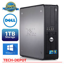 Dell Tower Desktop Computer PC Core 2 Duo 4GB RAM 1TB HD Windows 10 FAST