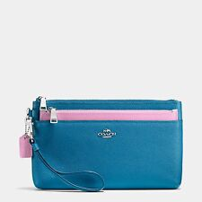 NEW Coach 64862 LARGE WRISTLET WITH POP-UP POUCH IN COLORBLOCK LEATHER