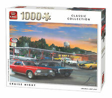 NEW! King Cruise Night 1000 piece nostalgic car jigsaw puzzle