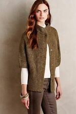 NWT Sz M Anthropologie Mixed Stitch Cardigan Sweater Size Medium Green Moss