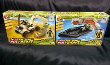 HM Armed Forces Character Building Royal Navy Assault Rib/Army Quad BikeMini Set