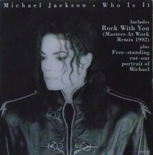 "MICHAEL JACKSON - Who Is It / Rock With You ~ 7"" Single PS"