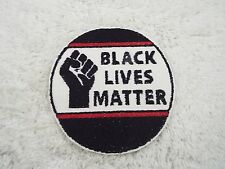 "BLACK LIVES MATTER Fist Red Line 4"" Embroidery Iron-on Applique Patch (E4)"