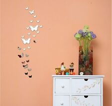 New Mirror DIY 3D Butterfly Wall Stickers Art Design Decal Room Decor Decoration
