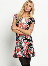 South Floral Print Flute Hem Dress Size 16 BNWT (1)