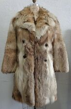 MINT NATURAL CANADIAN COYOTE FUR COAT JACKET MEN MAN SIZE 36-38 XXSMALL