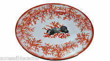 Bongenre Ocean Coral Sea Shell Large Oval Dish Plate Seafood Gift 18x15x2 New