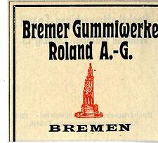 Bremer Gummiwerke Roland A.G. Bremen Trademark 1912