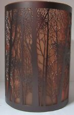 Yankee Candle Large Jar Holder Twilight Forest Silhouette Brown Orange #1349241