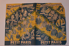 VINTAGE 1950s-60s GENÈVE SWITZERLAND CLOTHING STORE ADVERTING SHEET! PICS/PRICES