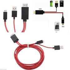 2M 1080P MHL Micro USB to HDMI HD TV Adapter Cable Samsung Galaxy S3 S4 Note 2