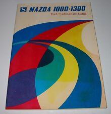 Betriebsanleitung Mazda 1000 / 1300 Typ FA 2 ohne Eintrag in Deutsch 1967 - 1977