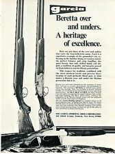 1973 Print Ad of Garcia Beretta SO Series & BL-6 Shotgun heritage of excellence