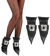 Hexen Schuhüberzieher Leder-Look NEU - Zubehör Accessoire Karneval Fasching