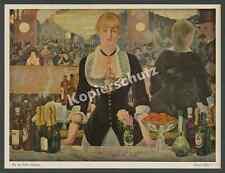 Edouard Manet bar aux Folies Bergeres dame paris impressionnisme peinture 1911!!!