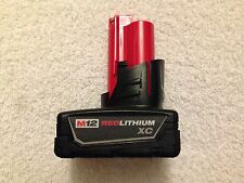 NEW Genuine Milwaukee 12 Volt 48-11-2402 M12 XC 3.0Ah Red Lithium Ion Battery