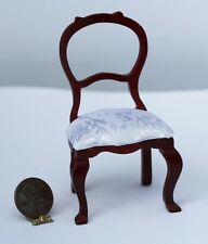 Dollhouse Miniature Mahogany Victorian Style Drawing Room Chair