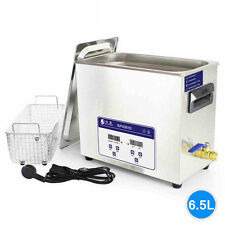 180W 220V 6.5L Ultrasonic Cleaner with Timer & Heater Mechanical Free Basket