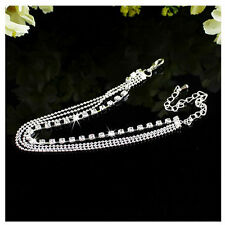 New Women Silver Chain Ankle Anklet Bracelet Barefoot Sandal Beach Foot Jewelry