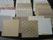 22 Sheets 6x6 Scrapbook Paper** DCWV**The THE GILDED PAPER Stack *Some w/ FOIL