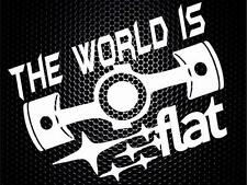 World is flat Subaru funny Car Window JDM Bumper Vinyl Decal Sticker JDM VW