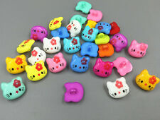 50PCS NEW Mixed color sewing scrapbooking Hello Kitty shape Resin buttons 18mm