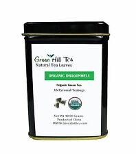 Organic Dragon Well Green Tea loose Leave tea packed in pyramid  bag  16 pcs