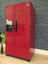 Samsung H-series Cranberry Red american fridge freezer water & ice, frost free
