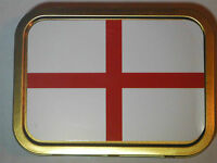 England St George English Flag Tobacco Tin 2 oz Storage tin Rubber Seal New HQ
