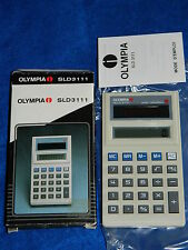 SLD-3111 olympia CALCULATRICE solaire THIN SOLAR Taschenrechner OLD CALCULATOR